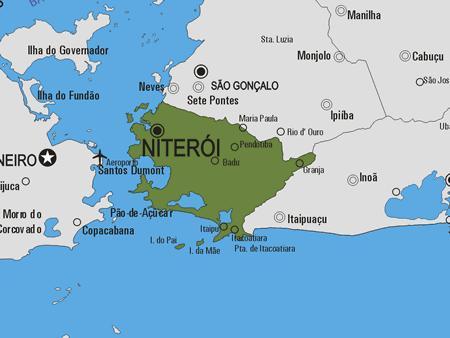 Niteroi Kommune Kort Kort Over Niteroi Kommune Bresil