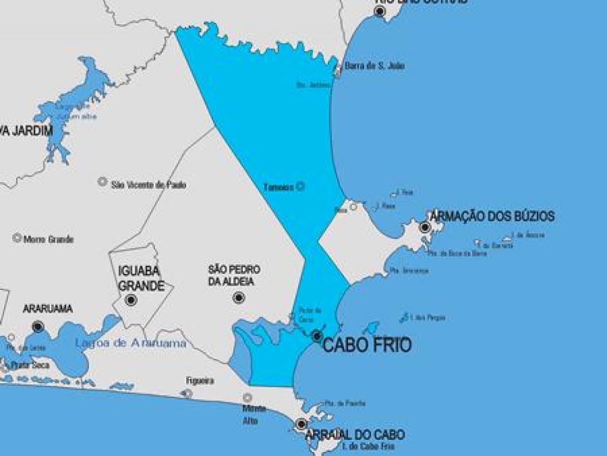 Cabo Frio Kommune Kort Kort Over Cabo Frio Kommune Bresil